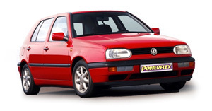 Powerflexbussningar VW Golf MK III 2WD (1992-1998)
