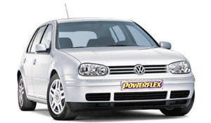 Powerflexbussningar VW Golf MK IV 2WD Typ 1J (1997-2004)