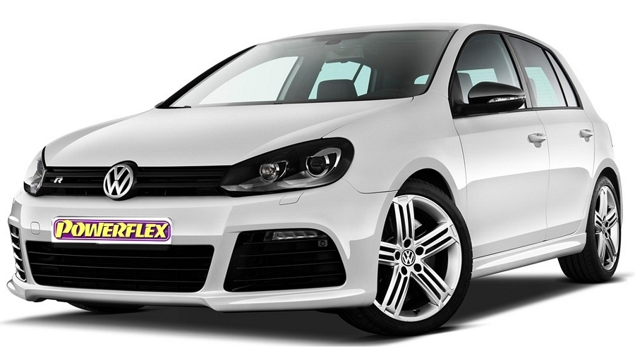 Powerflexbussningar VW Golf MK 6 ink R 5K (2009-2012)