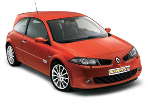 Powerflexbussningar Renault Megane II INC RS 225, R26 and CUP (2002-2008)