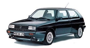 Powerflexbussningar VW Golf  MKII G60 4WD, Rallye & Country (1985-1992)